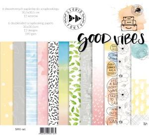 GOOD VIBES -zestaw 6 papierów 30,5x30,5cm