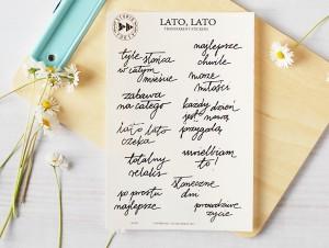 Lato, Lato - transparent stickers