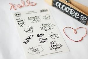 Adore - transparent stickers