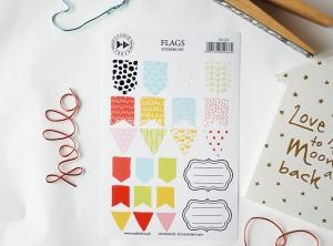 Flags -  sticker set