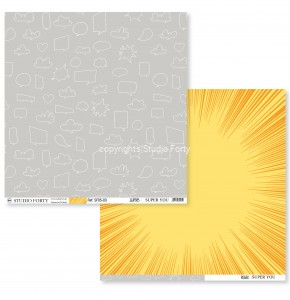 SUPER YOU - superb/power - scrapbook paper