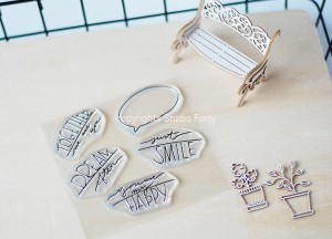 """Speech Bubbles"" - stamp set#83"