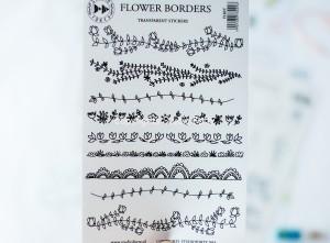 Flower borders - transparent stickers