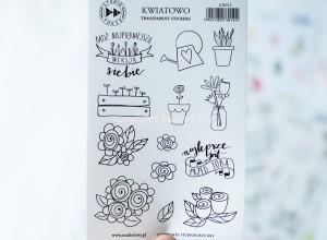 Kwiatowo - transparent stickers
