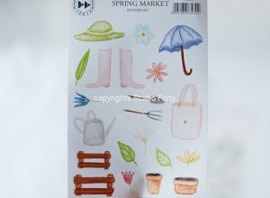 Spring market -  sticker set
