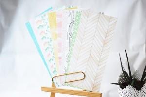 DAYDREAM  -Notebook edition-zestaw 12 papierów 10x21 cm