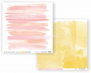 DAYDREAM - just painted / sunshine - scrapbook paper