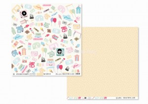 BEAUTIFUL LIFE - have fun / sprinkles- scrapbook paper