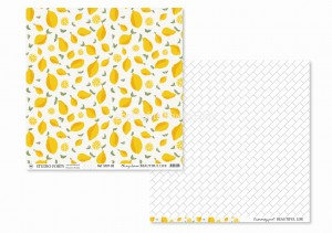 BEAUTIFUL LIFE - oh my lemon / swimming pool - scrapbook paper