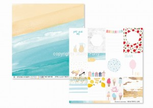 BEAUTIFUL LIFE - at the seaside / summer memories - scrapbook paper