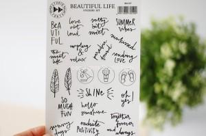 Beautiful Life - transparent stickers
