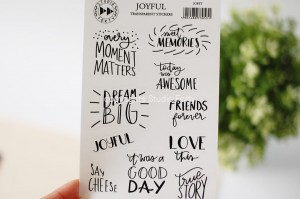 Joyful - transparent stickers