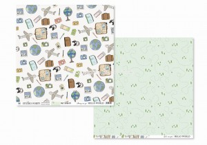 HELLO WORLD - Away we go / Let's escape- scrapbook paper
