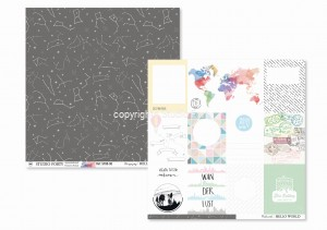 HELLO WORLD - Stargazing / Postcards - scrapbook paper