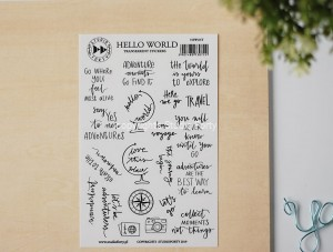 Hello World - transparent stickers