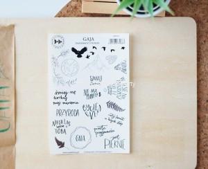 Gaja - transparent stickers (polskie)