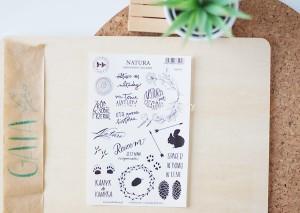 Natura - transparent stickers (polskie)