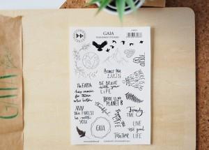 Gaia - transparent stickers (english)