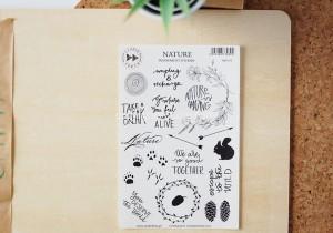 Nature - transparent stickers (english)
