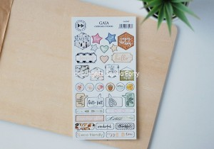 Gaia - chipboard stickers set