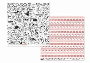 JOYFUL -Merry Xmas / XStitch - scrapbook paper