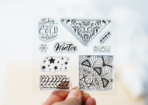 Winter Mosaic- stamp set#102