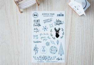 Joyful Time- transparent stickers (english)