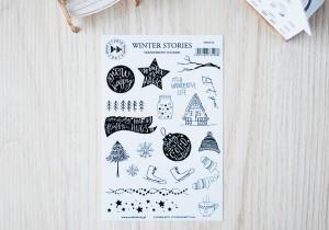 Winter stories- transparent stickers (english)