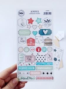 JOYFUL - chipboard stickers set