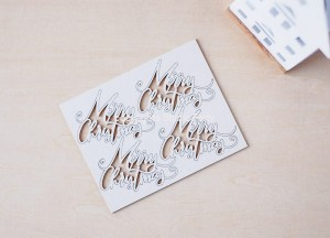 Joyful -Merry Christmas - set of chipboards