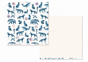 LUNARE  - Space animals/Star trails - scrapbook paper
