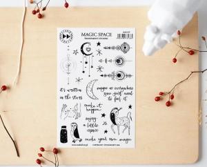 Magic space - transparent stickers (english)