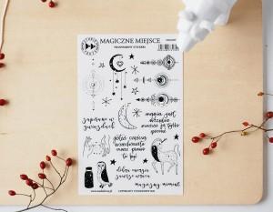 Magiczne miejsce - transparent stickers (polskie)