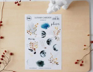 Lunar garden - sticker set