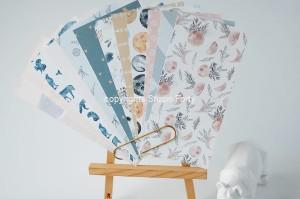 LUNARE-Notebook edition-zestaw 12 papierów 10x21 cm /paper set of 12