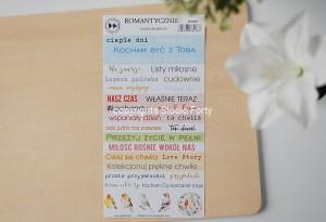 ROMANTYCZNIE - color sticker set (polskie)