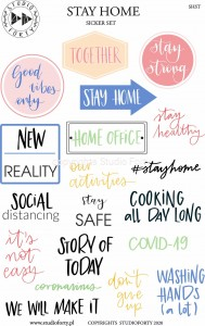 Stay Home - free printable set