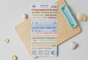 BOM DIA - color sticker set ( english)