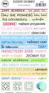 Dzień Dobry - color sticker set ( polskie)