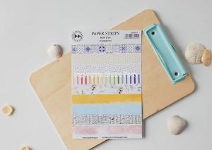 Paper strips- BOM DIA - sticker set