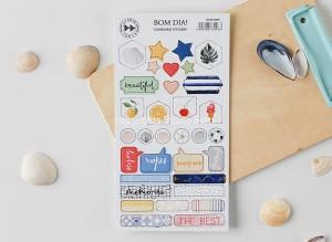 Bom Dia - chipboard stickers set