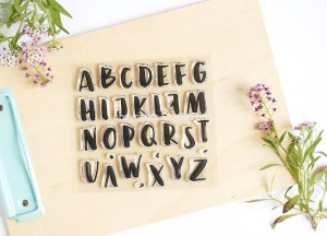 """Alphabet brush Big letters"" - stamp set #57"
