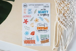 Little moments- sticker set