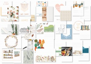 Cozy time  - journaling cards (set of 15)