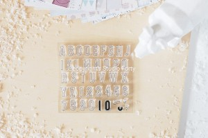 Simple Aplha - stamp set#129