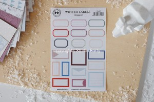Winter labels - sticker set