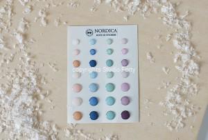 Nordica- 3D sticker set -dots / naklejki wypukłe- kropki
