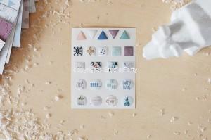 Nordica - 3D sticker set -shapes  / naklejki wypukłe- kształty