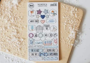 Nordica - chipboard stickers set