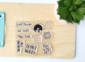 """Donut Worry"" -stamp set#49"